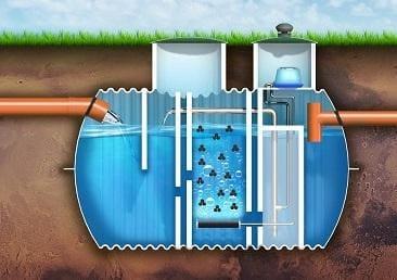 zbiornik oczyszczalni biologicznej przekrój